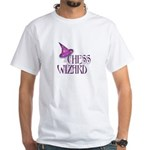 Chess Wizard White T-Shirt