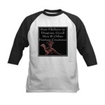 Sure I believe in Dragons Kids Baseball Jersey