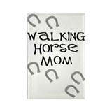 Walking Horse Mom Rectangle Magnet