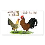 Dutch Bantam Time! Rectangle Sticker
