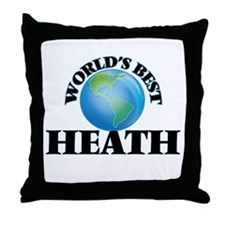 World's Best Heath Throw Pillow