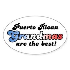Puerto Rican Grandma Oval Decal