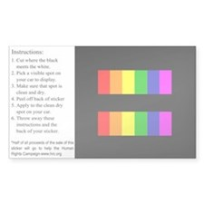 Equality Rainbow Decal