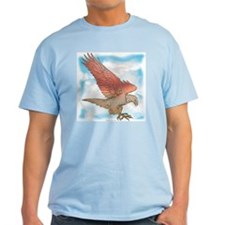 Golden eagle in Flight Ash Grey T-Shirt