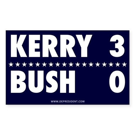 Kerry 3 - Bush 0