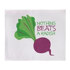 Nothing Beats Radish Throw Blanket
