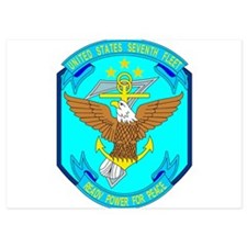 US Navy 7th Fleet Emblem Invitations