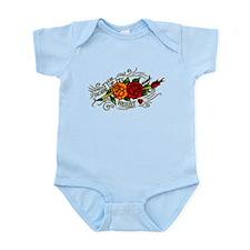 Rose of Heart Tattoo Infant Bodysuit