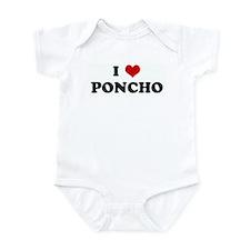 I Love PONCHO Infant Bodysuit