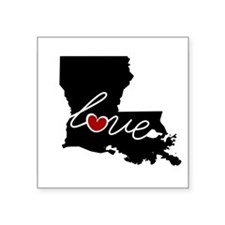 "Louisiana Love Square Sticker 3"" x 3"""