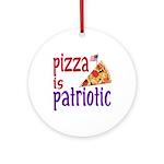 Pizza is Patriotic (christmas tree ornament)