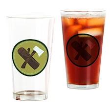 Wood Ax Drinking Glass