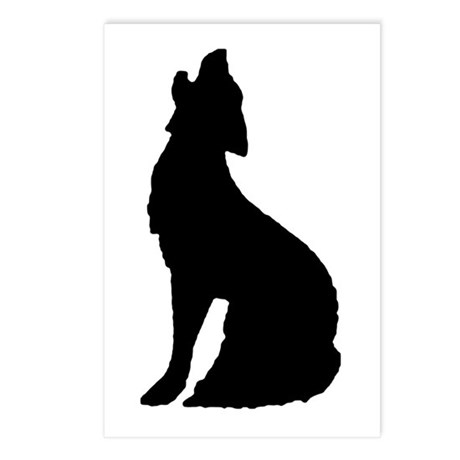 Howling Wolf Icon Postcards (Package of 8)