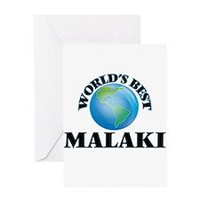 World's Best Malaki Greeting Cards