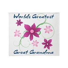 World's Greatest Great Grandma (Flow Throw Blanket