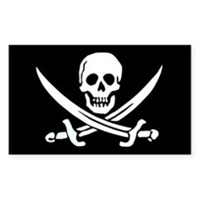 Calico Jack's Flag Rectangle Decal