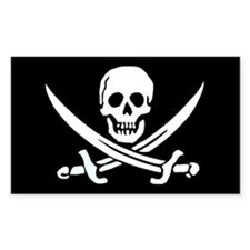 Calico Jack's Flag Rectangle Stickers