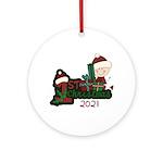 Santa Baby 1st Christmas Ornament (round)