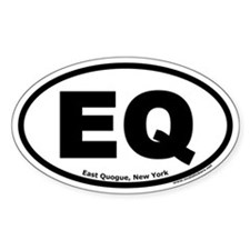 "East Quogue, New York ""EQ"" Oval Decal"