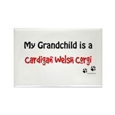 Cardigan Grandchild Rectangle Magnet