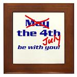 Get 'The Force of July' Framed Tile