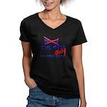 Get 'the Force' Women's V-Neck Dark T-Shirt