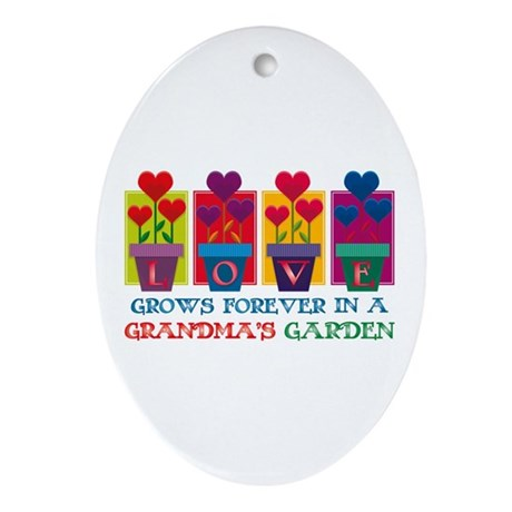 Grandma's Garden Oval Ornament