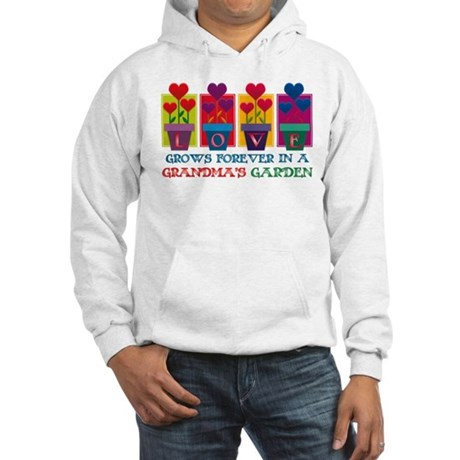 Grandma's Garden Hooded Sweatshirt