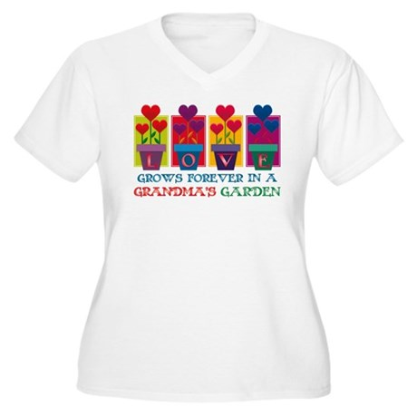 Grandma's Garden Women's Plus Size V-Neck T-Shirt