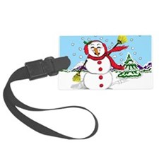 snowman-2.png Luggage Tag