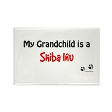 Shiba Inu Grandchild Rectangle Magnet