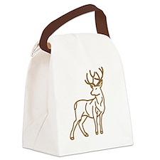 Majestic Deer Outline Canvas Lunch Bag