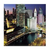 Chicago Photos Tile Coaster