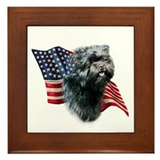 Affenpinscher Flag Framed Tile