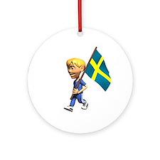 Sweden Boy Ornament (Round)