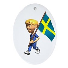 Sweden Boy Oval Ornament