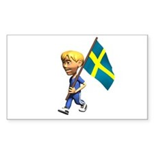 Sweden Boy Rectangle Decal