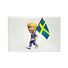 Sweden Boy Rectangle Magnet