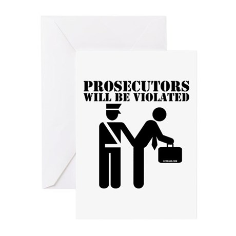 Prosecutors will be Violated Greeting Cards (Packa