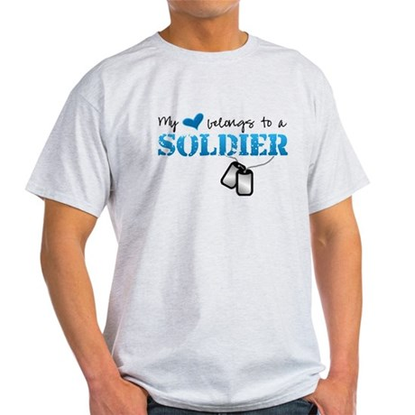 My heart belongs to a Soldier Light T-Shirt