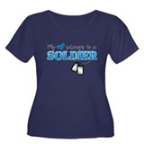 My heart belongs to a Soldier Women's Plus Size Sc