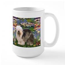 Moent's Lilies 2 & Old English Sheepdog Mug