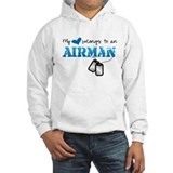 My heart belongs to an Airman Hoodie