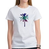 Abstract Palm Tree Tee