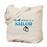 My heart belongs to my Sailor Tote Bag