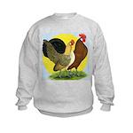 Red Quill Chickens Kids Sweatshirt