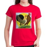 Red Quill Chickens Women's Dark T-Shirt