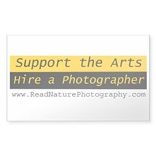 Hire Photographer - Web site Rectangle Decal