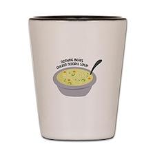 Chicken Noodles Soup Shot Glass