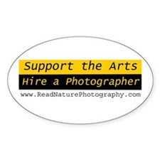 Hire Photographer - Web Site Oval Decal